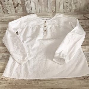 Hanna Andersson girls white blouse